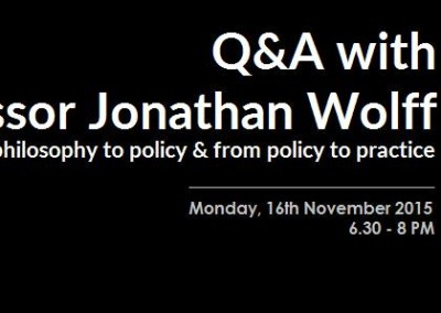 Policy discussion and debate with Professor Jonathan Wolff | November 2015