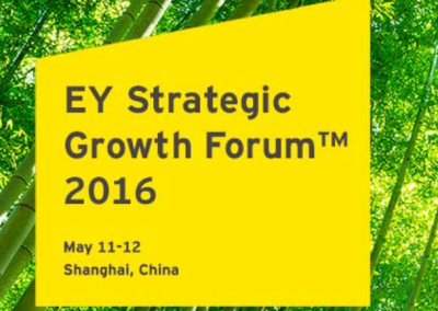 Invitee and participator with Ernst & Young Strategic Growth Forum 2016, Shanghai