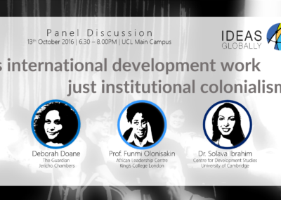 Panel Discussion on International Development | 13th October 2016