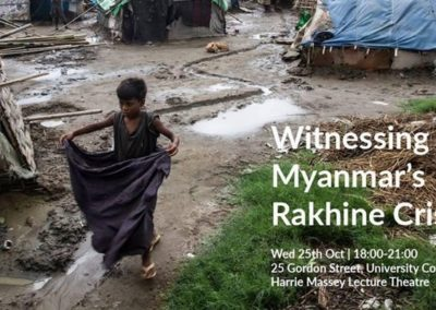Witnessing Myanmar's Rakhine Crisis, with James Lavender | 25th October 2017