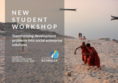 Workshop: Transforming development problems into social enterprise solutions | 30th October 2017