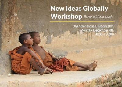 Workshop: Bring a friend | 4th December 2017