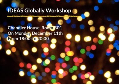 Workshop: Wrapping Up | 11th December 2017
