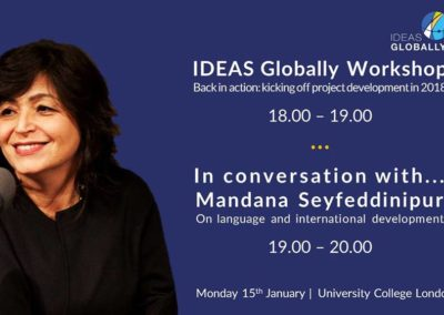 Workshop & Conversation with Mandana Seyfeddinipur | 15th January 2018