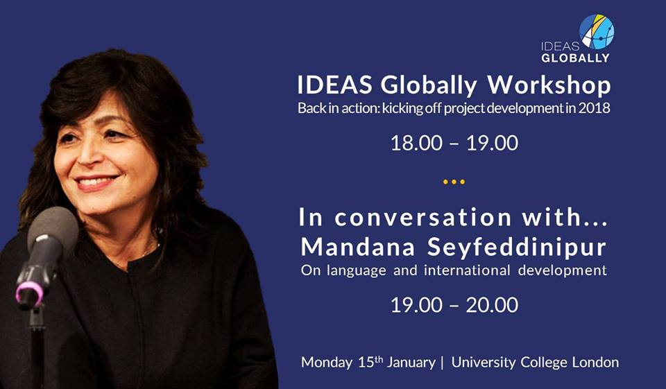 Workshop & Conversation with Mandana Seyfeddinipur | 15th January 2018