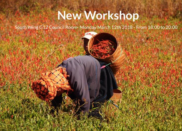 Workshop & Approaches to Data Evaluation by Joshua Bligh   12th March 2018
