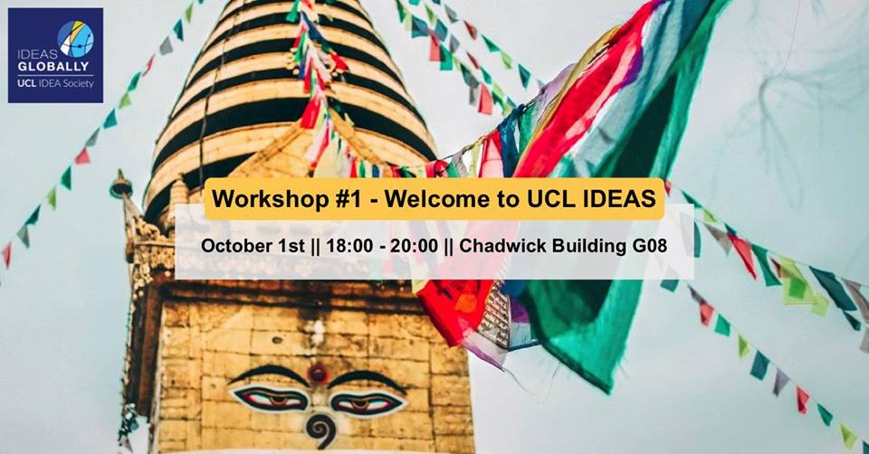 First workshop of 2018.19 – Welcome to IDEAS | 1st October 2018