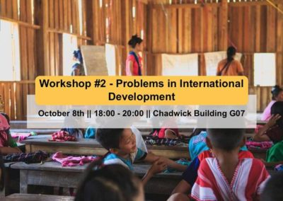 Workshop: Problems In International Development | 8th October 2018