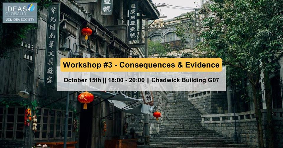 Workshop: Consequences and Evidence | 15th October 2018